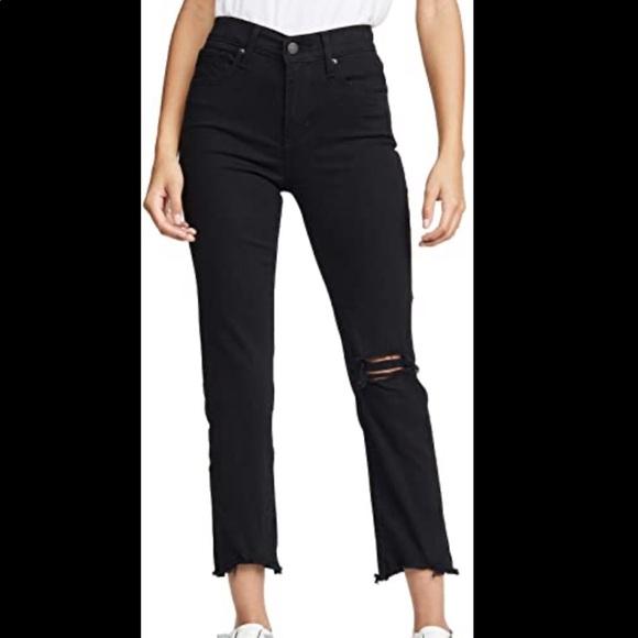 Levi's High Rise Straight Crop Black Jean